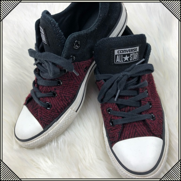 Converse Shoes -   Converse Lace Up Shoes   Red and Black Sneaker   9a86881b21db